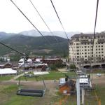 View from chairlift.