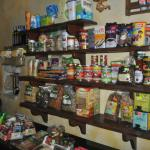 Some of the foodstuffs available in the Samonas shop.