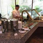 Omelet station at breakfast time