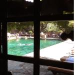 Swimming pool in the hotel Colombe d`Or