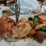 Lobster Special at Crusoe's tonight. The restaurant was a lovely surprise. Great customer servic