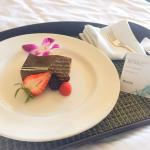 Beautifully renovated rooms! Hand-delivered birthday dessert with personal handwritten birthday