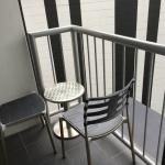 Small veranda with two chairs