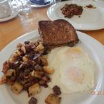 Delicious Prime Rib with Bacon Hash and Eggs