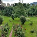 The garden within the medieval walls
