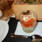 housemade tofu with King crab