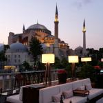 View of Blue Mosque from Aya Bar