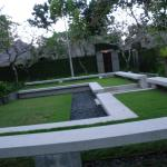 some of the garden area out side the villas
