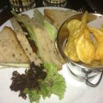 Cheese & onion sandwich in Terrace Bar