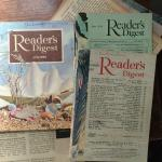 Some really old Reader's Digests. Very entertaining stories and some of the ads are just hilario