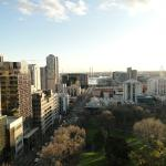 Looking south west over Flagstaff Gardens