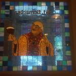 Cool stained glass tribute to one of the greats.
