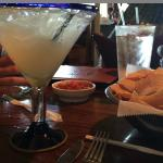 Biggest margarita I have ever had.  Be careful if you order the