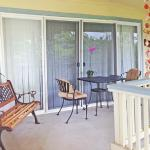 Lanai with bistro table and chairs for dining al fresco