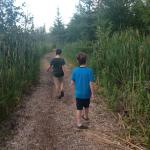 Kids on the nature trails.