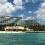 View of our hotel from banana boat ride