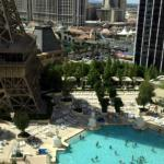 3rd Floor Pool above the Strip - view from our room!