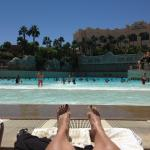 Lounging at the wave tech pool