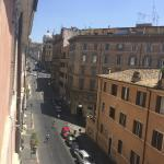 view from room, up street to Santa Maria Maggiore