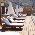 Sun lounges on the roof terrace