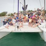 Snorkel tour on a large catamaran