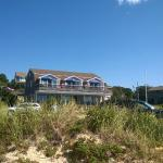 View of townhouse from beach.
