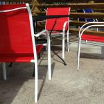 Sea View Motel, Outdoor Setting with Tables and Chairs