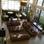 view from the function room of the hotel lobby