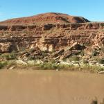 View of San Juan river from motel parking lot