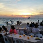 Dinner buffet by the beach while watching the sunset