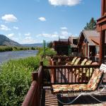 Patio/balcony and view of Salmon River
