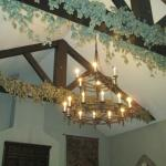 Chandelier and beams