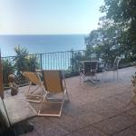 Our private terrace overlooking the beach
