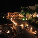 Night time view of pool area