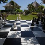 Giant chess with ocean view.