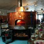 Pizzeria's wood-fired oven.