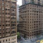 The view from our room on the 10th floor facing Park Avenue.  Just a couple blocks to Central Pa