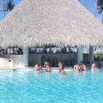 Swim up bar is now to relax at in the evening