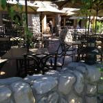 Outside restaurant seating