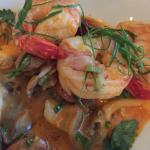 King prawns and Halibut special. Beautiful presentation and delectable taste