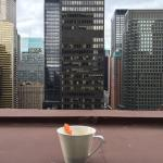 Breakfast cuppa overlooking Midtown