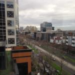View on a wintery Melbourne day