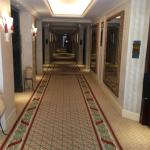 Hallways leading to the rooms