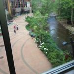 another view from walkway between hotel and casino