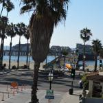 This was the view from our balcony - directly across the street from the pier!