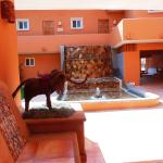 View from Office toward courtyard Hotel Villa Mexicana
