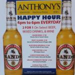 Anthony's Happy Hour Menu