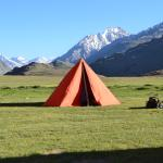 Camping site run by Parasol Camps near Chandertal