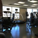 Well equipped fitness room on top floor
