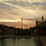 Sunset via poolside